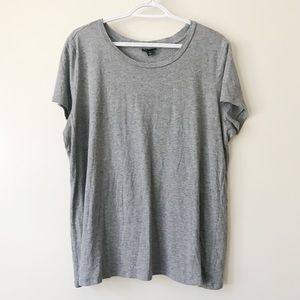 Torrid Gray Lounging Round Neck Tee Size 1X